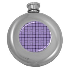 Light Pastel Purple Weave Hip Flask (round) by BestCustomGiftsForYou