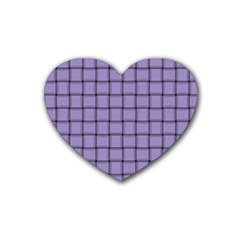 Light Pastel Purple Weave Drink Coasters 4 Pack (heart)  by BestCustomGiftsForYou