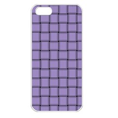 Light Pastel Purple Weave Apple Iphone 5 Seamless Case (white) by BestCustomGiftsForYou