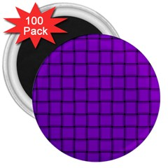 Dark Violet Weave 3  Button Magnet (100 Pack) by BestCustomGiftsForYou