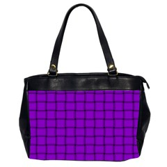 Dark Violet Weave Oversize Office Handbag (two Sides) by BestCustomGiftsForYou