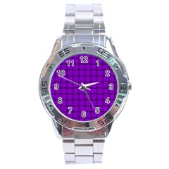 Dark Violet Weave Stainless Steel Watch (men s) by BestCustomGiftsForYou