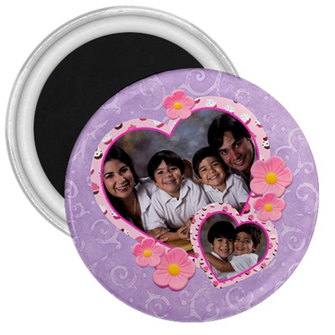 Purple 3  Magnet By Ivelyn   3  Magnet   Mly55y2g3uah   Www Artscow Com Front