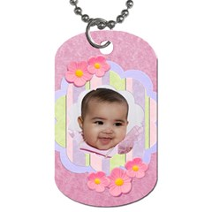 Candy Flowers Dog Tags By Ivelyn   Dog Tag (two Sides)   Rdkfuoybtyir   Www Artscow Com Front