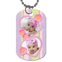 Candy Flowers Dog Tags By Ivelyn   Dog Tag (two Sides)   Rdkfuoybtyir   Www Artscow Com Back
