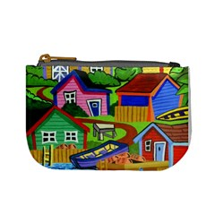 Three Boats & A Fish Table Coin Change Purse