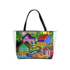 Three Boats & A Fish Table Large Shoulder Bag by reillysart
