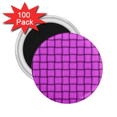 Ultra Pink Weave  2 25  Button Magnet (100 Pack) by BestCustomGiftsForYou