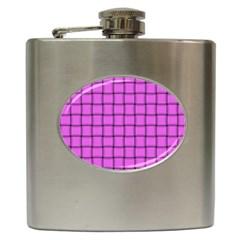 Ultra Pink Weave  Hip Flask by BestCustomGiftsForYou