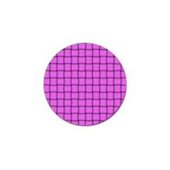 Ultra Pink Weave  Golf Ball Marker