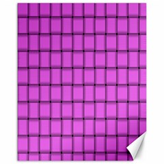 Ultra Pink Weave  Canvas 16  X 20  (unframed) by BestCustomGiftsForYou