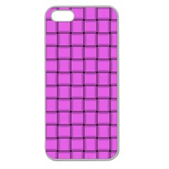 Ultra Pink Weave  Apple Seamless Iphone 5 Case (clear) by BestCustomGiftsForYou