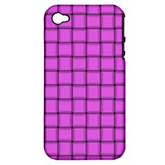 Ultra Pink Weave  Apple Iphone 4/4s Hardshell Case (pc+silicone) by BestCustomGiftsForYou