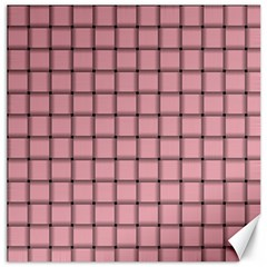 Light Pink Weave Canvas 12  X 12  (unframed) by BestCustomGiftsForYou