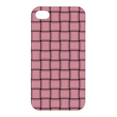 Light Pink Weave Apple Iphone 4/4s Hardshell Case by BestCustomGiftsForYou