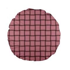 Light Pink Weave 15  Premium Round Cushion  by BestCustomGiftsForYou
