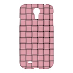 Light Pink Weave Samsung Galaxy S4 I9500 Hardshell Case by BestCustomGiftsForYou