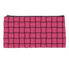 Dark Pink Weave Pencil Case by BestCustomGiftsForYou