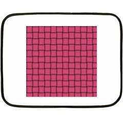 Dark Pink Weave Mini Fleece Blanket (two Sided)