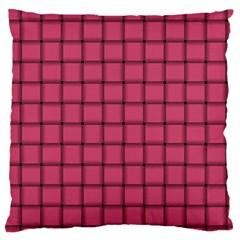 Dark Pink Weave Large Cushion Case (one Side) by BestCustomGiftsForYou
