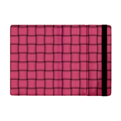 Dark Pink Weave Apple Ipad Mini Flip Case by BestCustomGiftsForYou