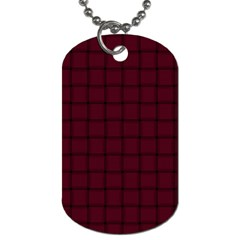 Dark Scarlet Weave Dog Tag (one Sided) by BestCustomGiftsForYou