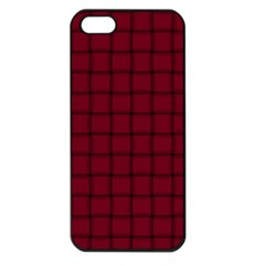 Burgundy Weave Apple Iphone 5 Seamless Case (black) by BestCustomGiftsForYou