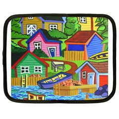 Three Boats & A Fish Table Netbook Case (xl) by reillysart