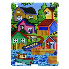Three Boats & A Fish Table Apple Ipad 3/4 Hardshell Case (compatible With Smart Cover) by reillysart