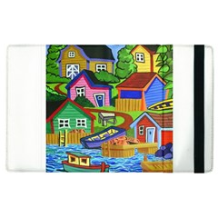 Three Boats & A Fish Table Apple Ipad 2 Flip Case by reillysart