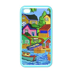 Three Boats & A Fish Table Apple Iphone 4 Case (color) by reillysart