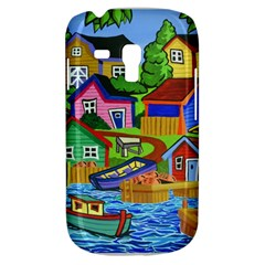 Three Boats & A Fish Table Samsung Galaxy S3 MINI I8190 Hardshell Case by reillysart