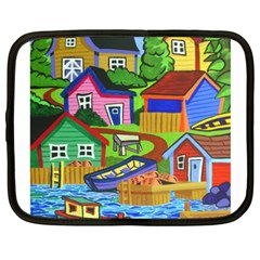 Three Boats & A Fish Table Netbook Case (xxl) by reillysart