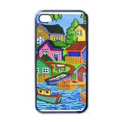 Three Boats & A Fish Table Apple Iphone 4 Case (black) by reillysart
