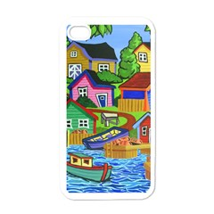 Three Boats & A Fish Table Apple Iphone 4 Case (white) by reillysart