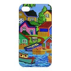 Three Boats & A Fish Table Apple Iphone 4/4s Hardshell Case by reillysart