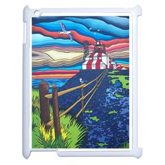Cape Bonavista Lighthouse Apple Ipad 2 Case (white) by reillysart