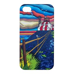 Cape Bonavista Lighthouse Apple Iphone 4/4s Premium Hardshell Case by reillysart