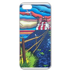 Cape Bonavista Lighthouse Apple Seamless Iphone 5 Case (clear) by reillysart