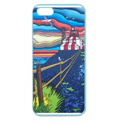 Cape Bonavista Lighthouse Apple Seamless Iphone 5 Case (color) by reillysart