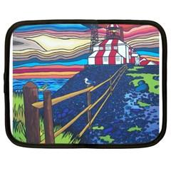 Cape Bonavista Lighthouse Netbook Case (xl) by reillysart