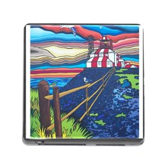 Cape Bonavista Lighthouse Memory Card Reader With Storage (square) by reillysart