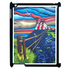 Cape Bonavista Lighthouse Apple iPad 2 Case (Black) by reillysart