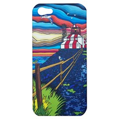 Cape Bonavista Lighthouse Apple Iphone 5 Hardshell Case by reillysart