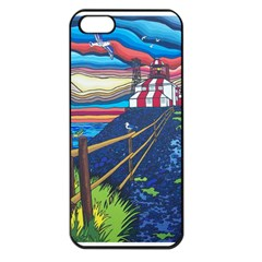 Cape Bonavista Lighthouse Apple Iphone 5 Seamless Case (black) by reillysart