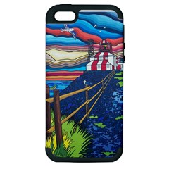 Cape Bonavista Lighthouse Apple Iphone 5 Hardshell Case (pc+silicone) by reillysart