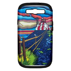 Cape Bonavista Lighthouse Samsung Galaxy S Iii Hardshell Case (pc+silicone) by reillysart
