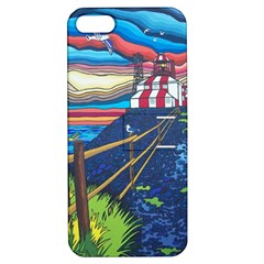 Cape Bonavista Lighthouse Apple Iphone 5 Hardshell Case With Stand by reillysart