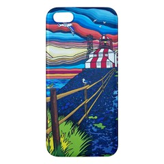Cape Bonavista Lighthouse Iphone 5 Premium Hardshell Case by reillysart