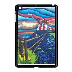 Cape Bonavista Lighthouse Apple Ipad Mini Case (black) by reillysart
